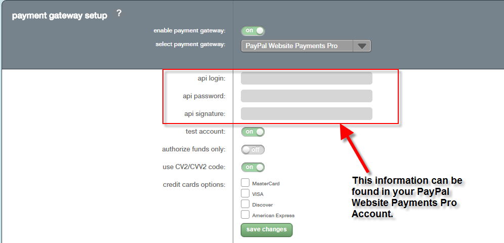 Enabling and Setting up the PayPal Website Payments Pro